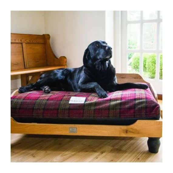 Handmade Wooden Luxury Raised Dog Bed