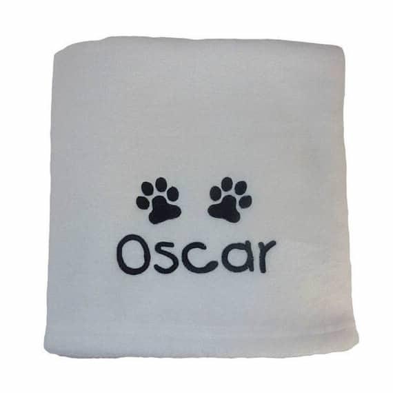 ivory Personalised Dog Blankets