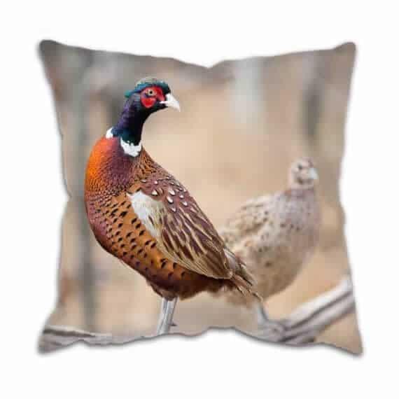 Pheasants Printed Country Cushion