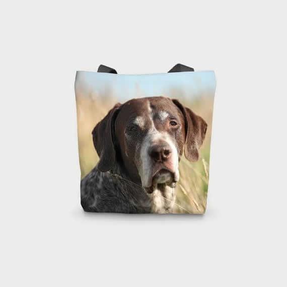 Canvas Cotton Printed Totes Pointer Dog Bag