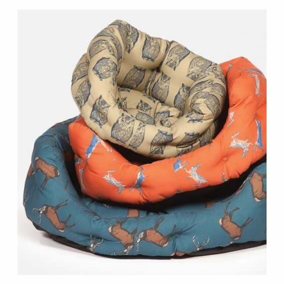Animal Printed Woodland Danish Design Dog Couches | Luxury Dog Beds