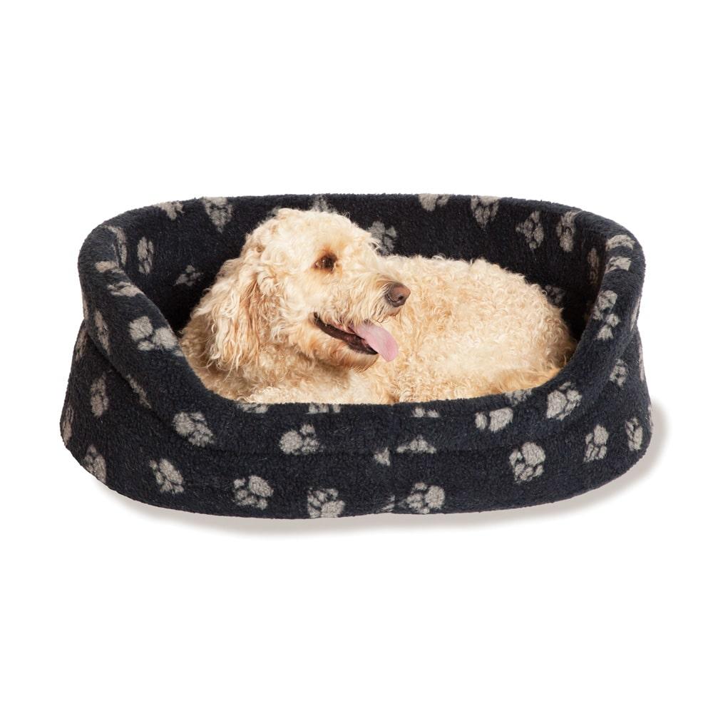 Fleece Navy Oval Slumber Bed – Danish Design Dog Beds