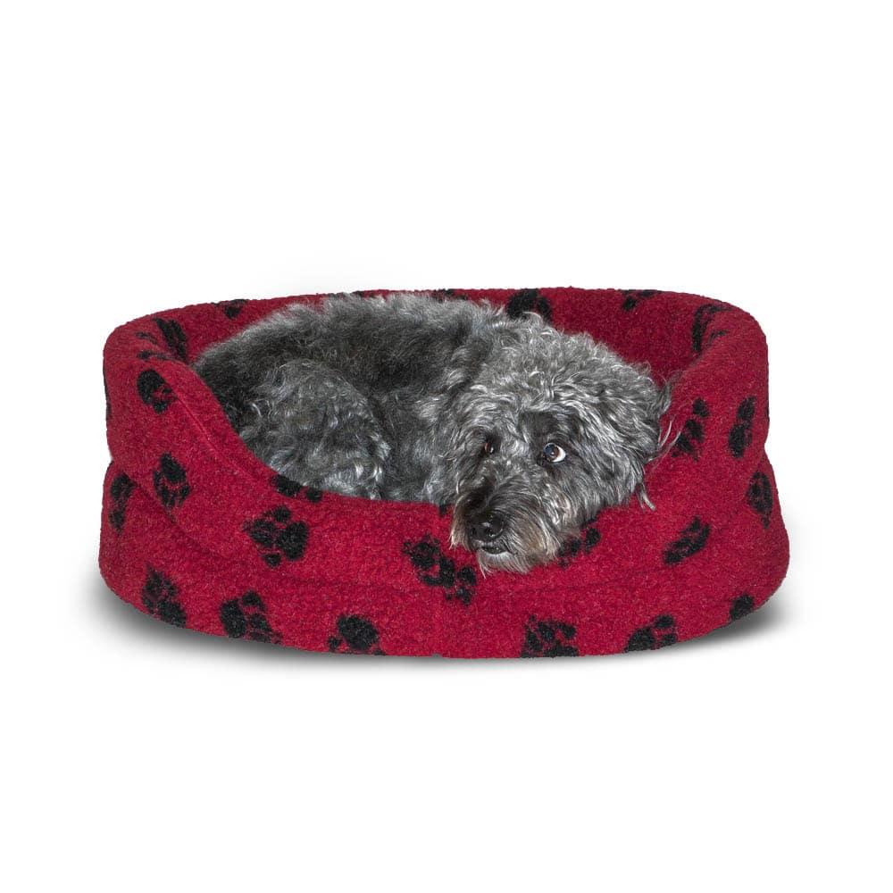 Fleece Red Slumber Bed – Danish Design Dog Beds