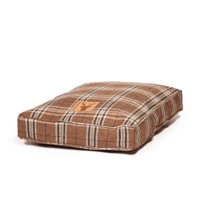 dark beige dog bed mattress