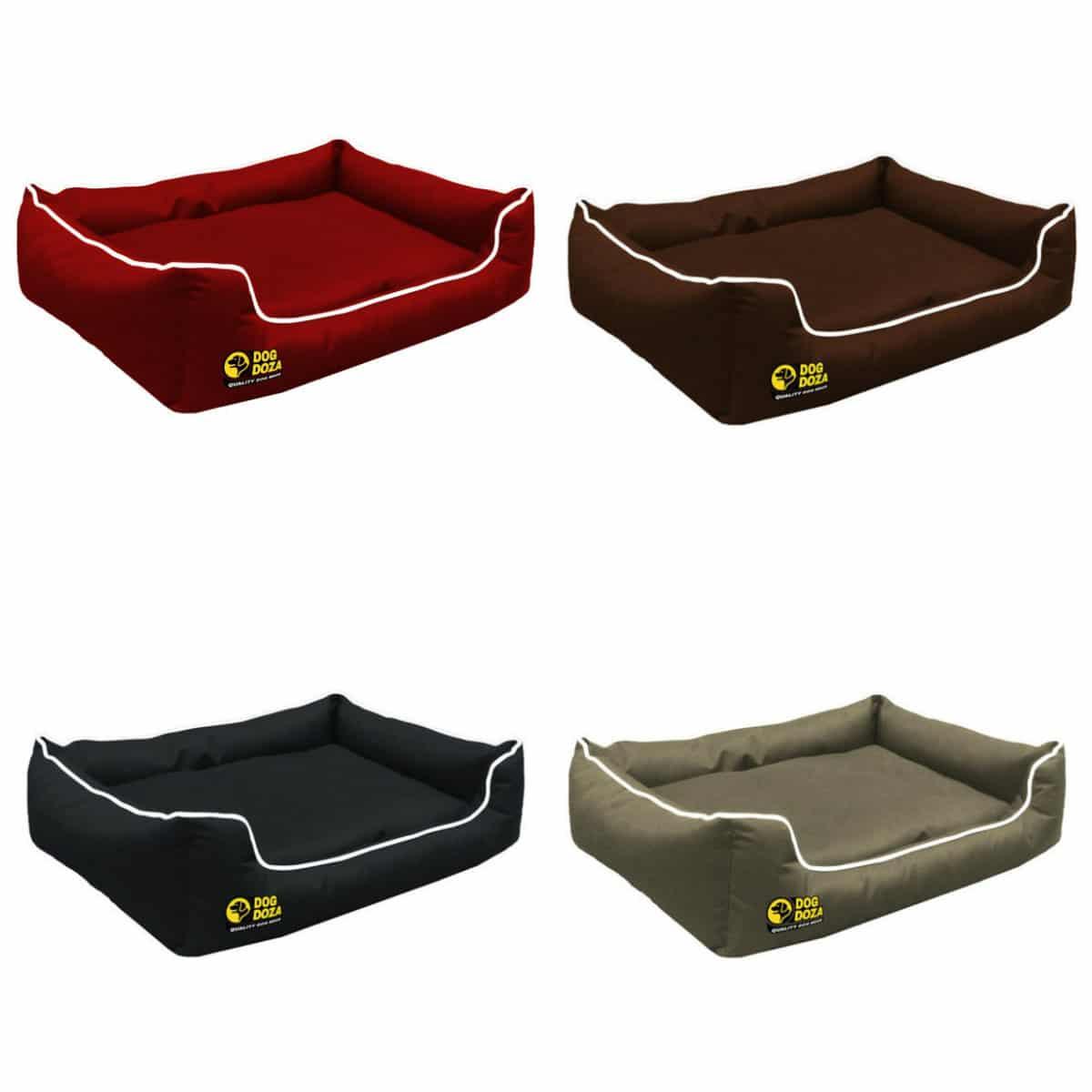 Waterproof Memory Foam Black Dogs Bed – Dog Doza Settee Beds