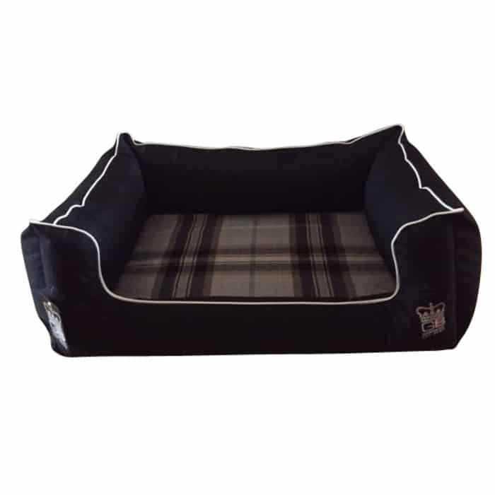 Memory Foam Dreamer Dog Bed | Black Waterproof Settee Beds