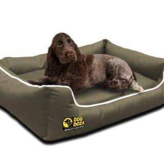 Waterproof Memory Foam Beige Dogs Bed – Dog Doza Settee Beds