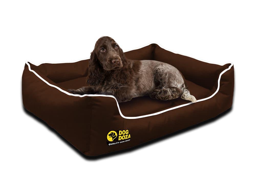 Waterproof Memory Foam Brown Dogs Bed – Dog Doza Settee Beds