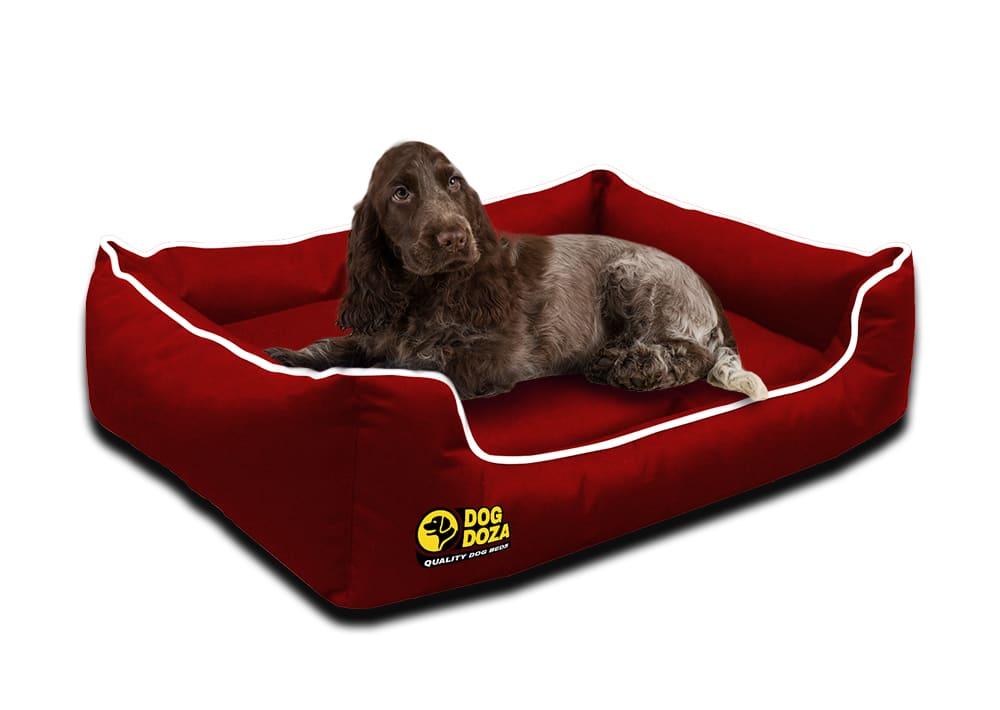 Waterproof Memory Foam Red Dogs Bed – Dog Doza Settee Beds