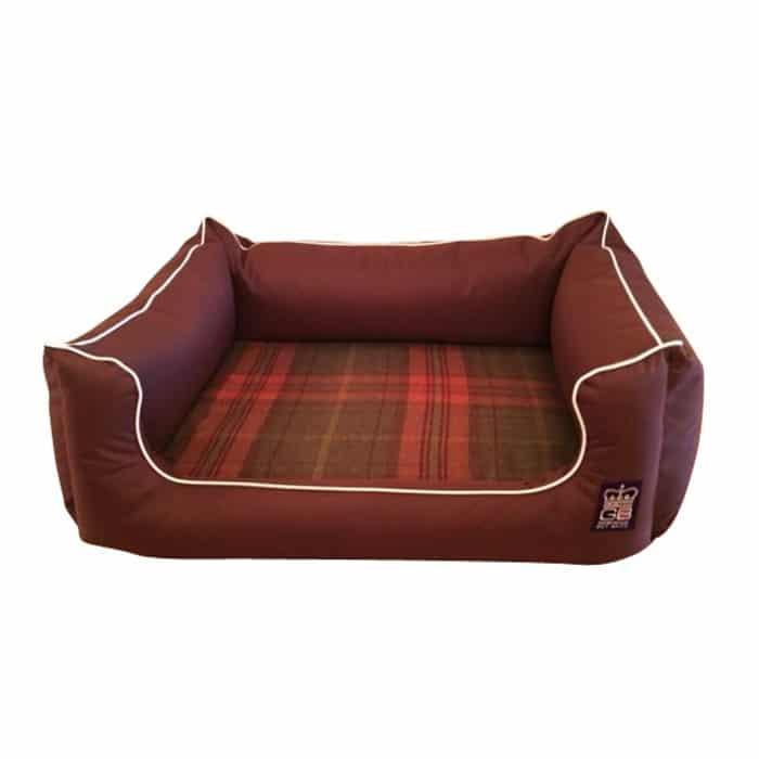 Memory Foam Dreamer Dog Bed | Brown Waterproof Settee Pet Beds